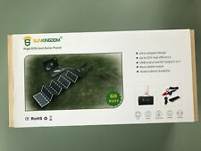 Sunkingdom 60W Portable Solar Panel With 5V USB and 18V DC Outputs