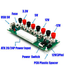 20/24Pins ATX Benchtop Power Board PC Breakout Adapter Switch Module Welcome