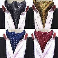Men's Polka Dots Flower Paisley Scarves Cravat Ascot Neck Ties Gentleman HZ175