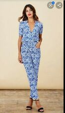 DANCING LEOPARD @ ASOS BLUE SNOW DITZY DRESS PLAYSUIT CATSUIT JUMPSUIT ZION 10 S