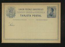 Venezuela   nice postal card  10 cent  blue   unused       MS1207