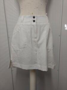 Chase 54 Women's SZ 4 Athletic Performance Golf Tennis Skirt Skort White Pockets