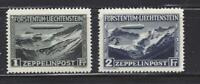 LIECHTENSTEIN - C7 - C8 - MH - 1931- ZEPPELIN OVER FALKNIS RANGE & VALUNA VALLEY