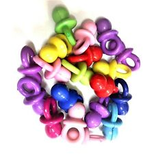 25 x 21mm Small Dummy Charms / Pacifier, Pendants, Baby Showers, Mixed Colours