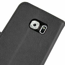 Jumbl Slim Leather Wallet Case for Samsung Galaxy S6 - Black