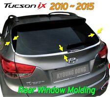 Chrome Rear Glass Molding Garnish Trim Cover for Hyundai Tucson ix35 2010 ~ 2015