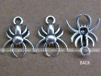 P083 20pcs Tibetan Silver Beads Charm Charms Spider retro Accessories Wholesale