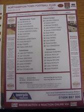 23/03/2013 Colour Teamsheet: Northampton Town v Oxford United. This item is in v
