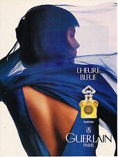 PUBLICITE ADVERTISING 014   1995   GUERLAIN PARFUM L'HEURE BLEUE
