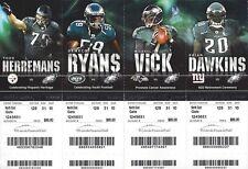2012 NFL STEELERS JETS RAVENS GIANTS @ EAGLES UNUSED FOOTBALL TICKETS - DAWKINS
