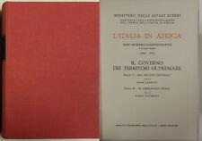 Marinucci GOVERNO TERRITORI OLTREMARE Italia Africa 1963