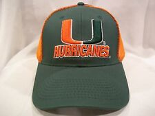 MIAMI HURRICANES BALL CAP HAT NEW NWT OSFM OFFICIALLY LICENSED H14