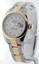 Rolex Datejust 179163 Womens 18K Yellow Gold/Steel Watch Diamond Dial