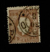 Portugal SC# 38, Used, corner creases, fairly large embossing tear - S6557