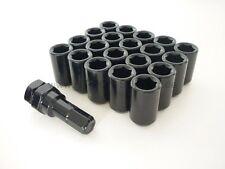 JDM Inbus Stahl Lug Nuts M12 x 1.5 Radmuttern SCHWARZ 20 Stück