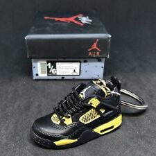 61826a0e820 Air Jordan IV 4 Retro Thunder Black Yellow Sneaker 3D Keychain Figure + Shoe  Box