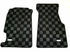 P2M Checkered Flag Race Extended Carpet Floor Mats Set Honda Civic Del Sol New