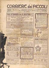 CORRIERE DEI PICCOLI 30 LUGLIO  1911 anno III NUMERO 31 CON SOVRACOPERTINA