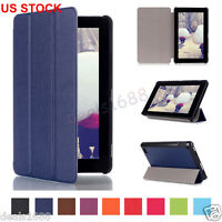 """PU Leather Flip Folio Case Stand Cover Tablet For Amazon Kindle Fire HD 7"""" 2015"""