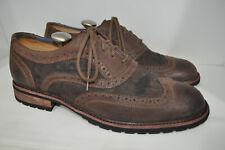 Mark Nason Skechers Cue Wingtip Oxford $189 Distressed Leather & Suede Men 10 M
