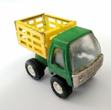 Vtg 1970's Buddy L Toy Dump Truck Green & Yellow Made in Japan Stake Bed ? Deere