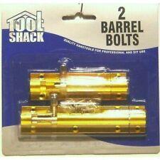 2 Brass Barrel Bolts Quality Hand Tool Professional & DIY Home Security Gate etc