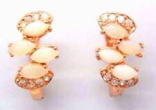Pendientes de joyería con gemas bañado en plata