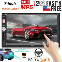 """7"""" Double 7018B 2 DIN Car GPS FM Stereo Radio MP5 Player Touch Screen BluetoothA"""
