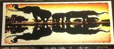 African skyline landscape reflection canvas size 120x50 cm