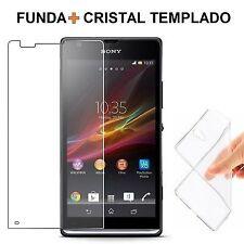 Protector Cristal Templado + Funda Silicona SONY XPERIA SP p378/s266