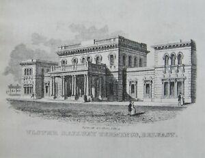 HISTORIC MOUNTED PRINT RAILWAY TERMINUS BELFAST OPENED 1848 DEMOLISHED 1969