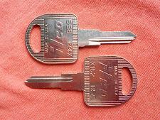 2 CADILLAC  ALLANTE KEY BLANKS DOOR TRUNK 1987-1993