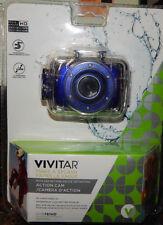Vivitar Action Camera with Waterproof Case Bike Mount Helmet Mount DVR783HD BLUE