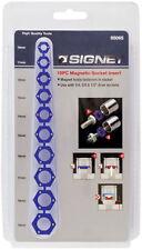 Signet 10 Pieza Magnético Insertos de zócalo 1/4in, 3/8in, 1/2in la unidad 10 - 19 mm