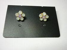 Stone Set Flower Earrings-Costume- BRAND NEW