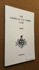 Vintage The American Fox Terrier Club Annual 1972 Program Collectible