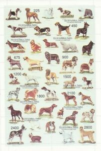 russie république de touva bloc neuf chiens