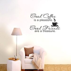 Good Coffee Good Friends wall decals stickers Home Vinyl decor mural Removable