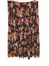Linea by Louis Dell'Olio Crinkle Floral Print Boho Skirt Port 1X Plus Size