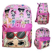 """L.O.L Surprise! Large School Printed Backpack 16"""" Girls Bag Pink Lol Bag Pink"""
