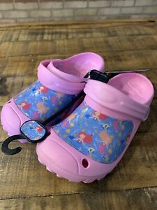Pink Princess Mermaid Clogs Shoes Sandals slide onSize 2/3j Sandals