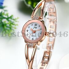 Luxury Womens Lady Bracelet Watches Fashion Rhinestone Quartz Analog Wrist Watch