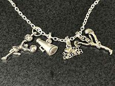 "Cheerleader Love to Cheer Megaphone Flat Charm Tibetan Silver 18"" Necklace"
