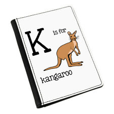 Letra K es para CANGURO Funda de pasaporte Funda Cartera - Animal Australia