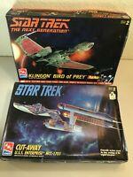 AMT Ertl #8015 & 8790 Star Trek Klingon Bird of Prey and Cut-Away USS Enterprise