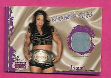 2002 WRESTLING JAZZ MATERIAL GIRLS EVENT-USED MAT  CARD (INV# C3473)