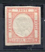 ANTICHI STATI 1861 NAPOLI E PROVINCIA 5 GRANA NUOVO MLH RIF 7917