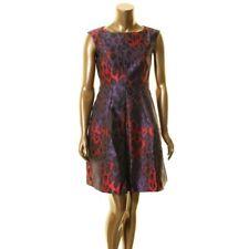 Anne Klein Womens Animal Print Pleated Knee-length Dress Size 8 # 10b 164 N