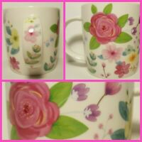 Floral Roses And Lilies Coffee Mug Cup Pretty Beautiful Florist Flowers Colorful
