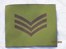 Distintivo rango:Sergente , per DPM Giacca, GB, britannico, Tgl 100 x 90 mm